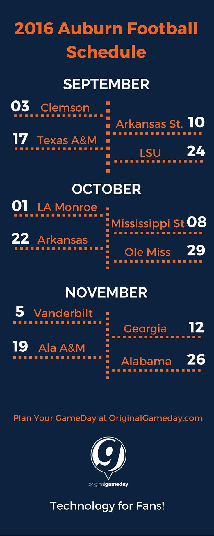2016 Auburn Football Schedule