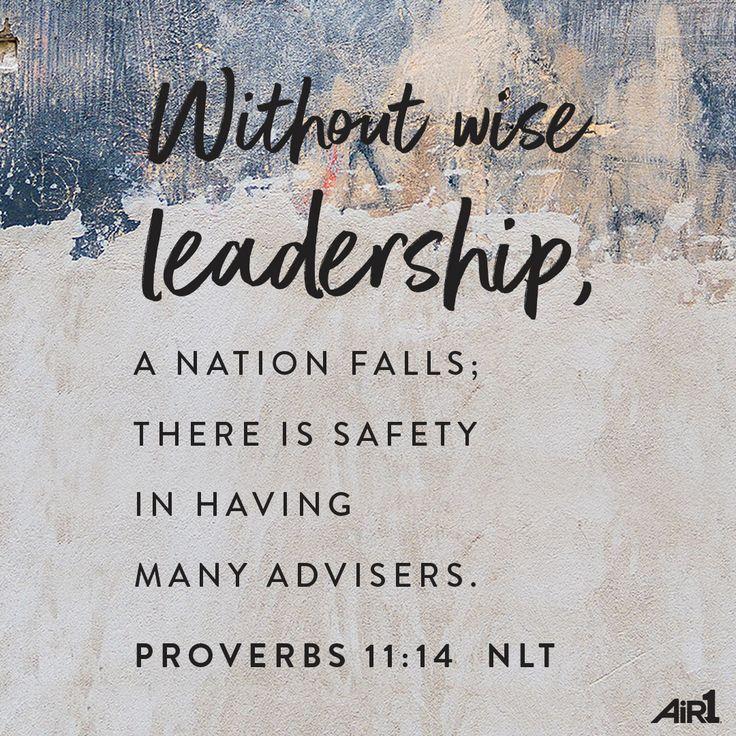 #VOTD #Bible #WiseLeadership #Scripture