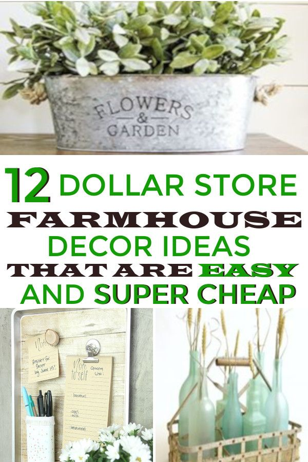 12 Dollar Store Farmhouse Decor Hacks That Are Easy And Super