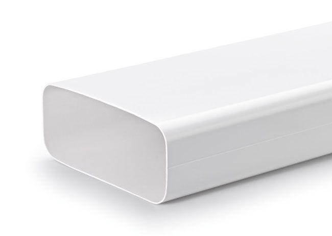 Naber COMPAIR® F-VRO 150er Flachkanal Lüftungsrohr weiß ohne Muffe, Länge 100 cm | ProKIRA - Küche, Bad und mehr ...