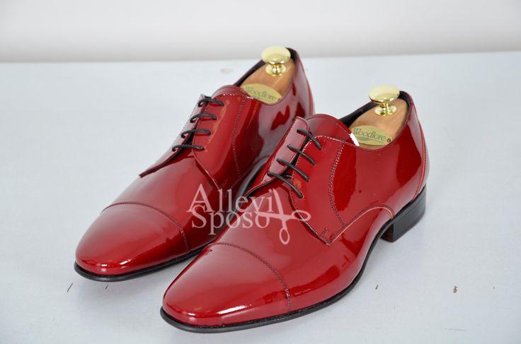 SCARPA ROSSA VERNICE CERIMONIA Scarpe da sposo, scarpe da cerimonia ...perche' gli accessori fanno la differenza... scarpe da matrimonio rosse scarpe da sposo rosso ferrari Scarpa cerimonia Scarpa da uomo cerimonia Allevi sposo gentemoda.it
