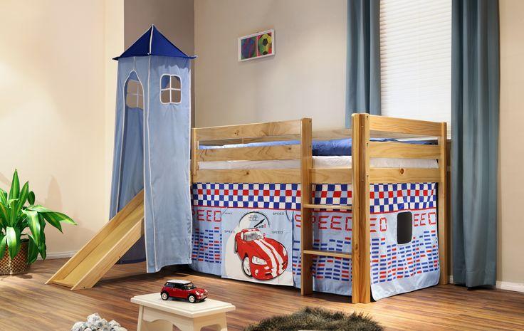 Kinderhochbett mit Turm und Rutsche - so süüß