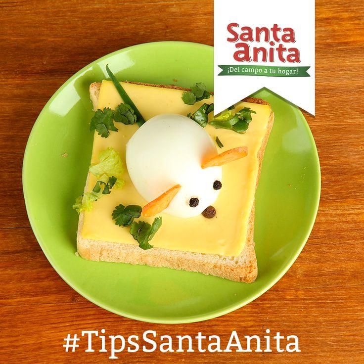 """""""Una idea para sacarle ventaja al huevo en la alimentación de los niños!!!!!!!!! Con los huevos, hay millones  de sugerencias. Huevos rellenos, estrellados, huevos en tortilla, huevos cocidos, fritos o escalfados. Mezclados con otros alimentos también se puede conseguir platos muy atractivos. #HuevosSantaAnita"""""""