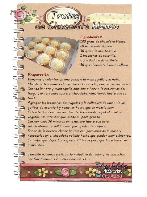 Tartas, Galletas Decoradas y Cupcakes: Bombones y Trufas