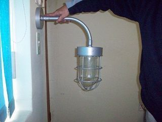 Cage Wall Bracket on Round Arm 200mm x 100mm x 120mm E27 Lampholder Any Colour
