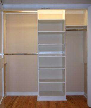 Basic reach in closet - modern - closet organizers - chicago - Closet Experts