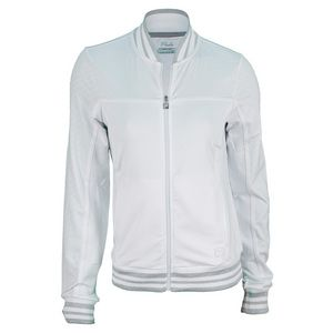 For cool days and nights, theFilaWomen's CollezioneTennis Jacket White is the perfect coverup. The high performance jacket features a full zipper and side pockets for optimal storage.  #fila #filatennis #wimbledon