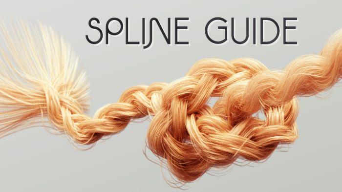 Spline Guide align hairs along a spline dynamically.
