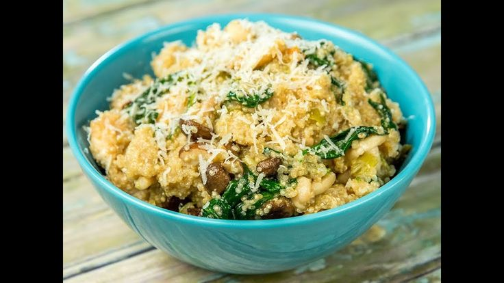 Are you a fan of risotto but you're also afraid of those pesky little carbs? You can replace rice with something healthier like quinoa and still obtain a delicious flavor and texture. Add some chicken breast mushrooms (the more exotic the better) a bit of spinach and a touch of parmesan.  --------------------- Follow us on: Facebook: http://sodl.co/2dRsH0l Instagram: http://sodl.co/2eMvdCP  Twitter: https://twitter.com/sodlco  Pinterest: http://sodl.co/2jq3kHY