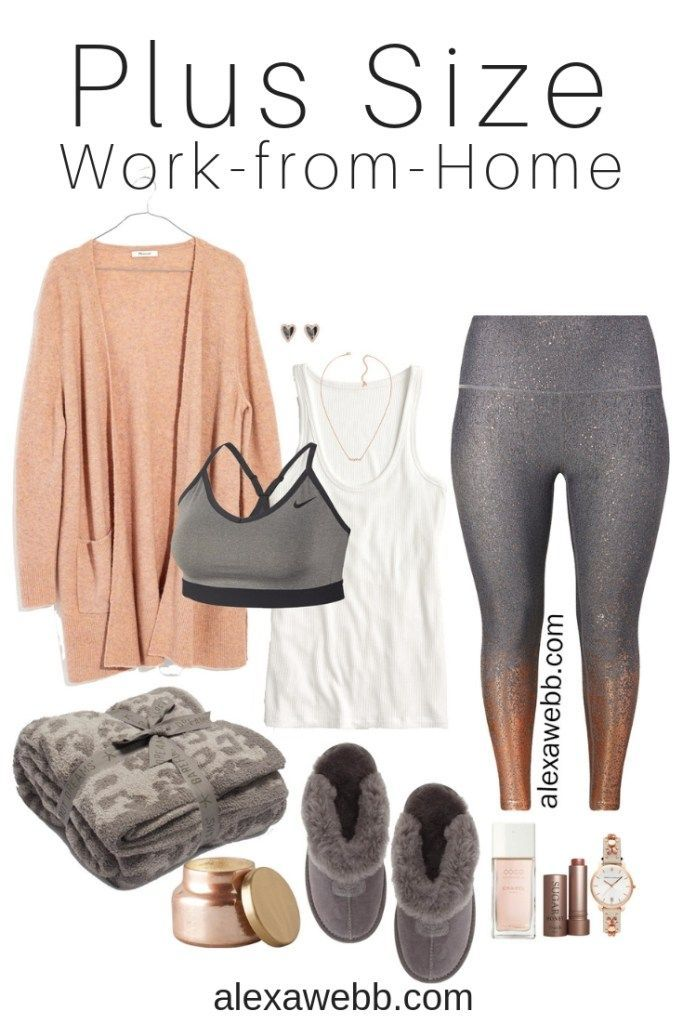 4eda4483873 Plus Size Work-From-Home Outfit - Plus Size Rose Gold Leggings