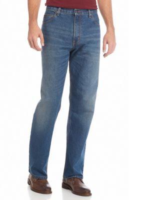 Saddlebred Men's 5 Pocket Comfort Stretch Jeans - Medium Stone - 38 X 32