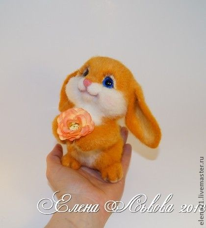 *NEEDLE FELTED ~ Toy animals, handmade. Fair Masters - handmade Zaya sun
