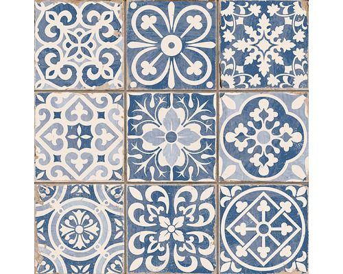 Vloertegel Faenza-A blauw 33x33 cm Hornbach