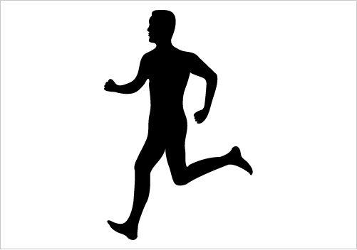 Man Running Silhouette Graphics Man Silhouette Running