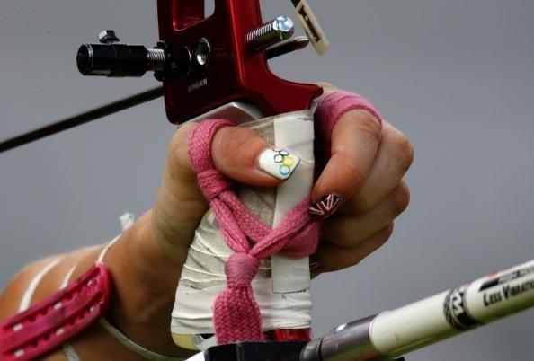 Olympic fingernails