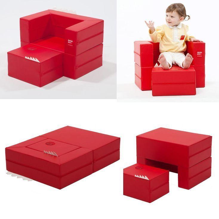 Kids Folding Block Sofa Mini Little Couch Daughter Birthday Gift Cute Furniture  #DESIGNSKIN