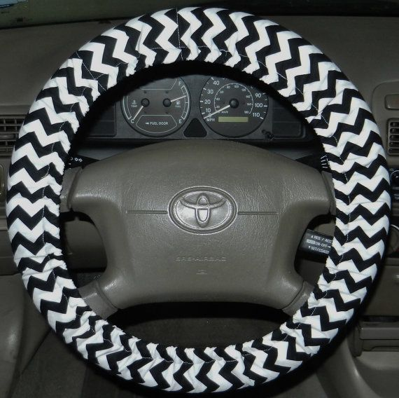 Chevron Black Steering Wheel Cover Key Chain Only Car Accessory You Pick Option