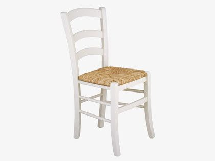 JAK WHITES Wood White dining chair - HabitatUK