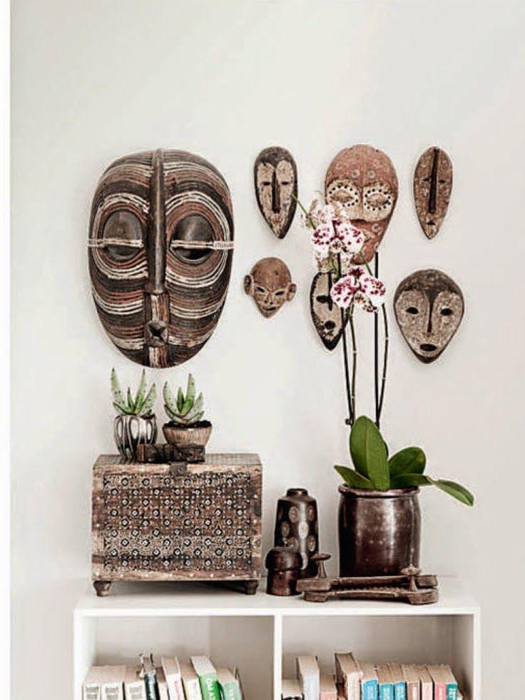 Un coin à la décoration ethnique chic aux inspirations africaines.
