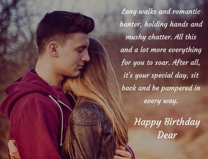 Birthday Wishes For Girlfriend Romantic Card Messages Birthday Wishes For Girlfriend Couples Quotes Love Birthday Wishes For Boyfriend