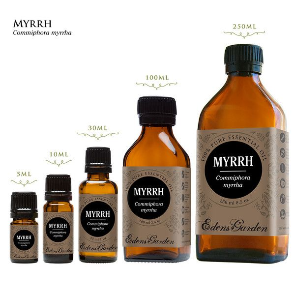 Myrrh is thought to enhance spirituality. Aromatherapists use it as an aid in meditation or before healing.