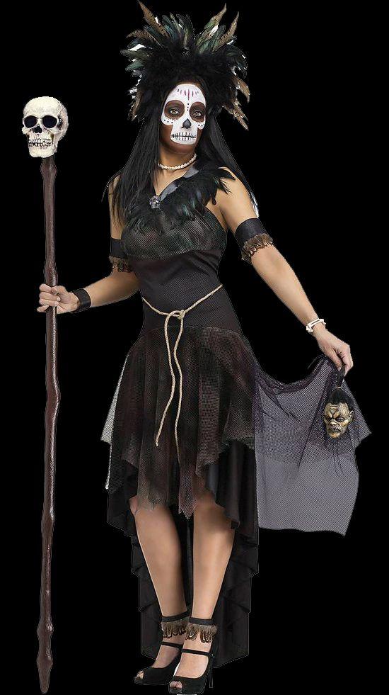Women's Voodoo Queen Costume | Wholesale Horror Costumes ... Voodoo Queen Costume