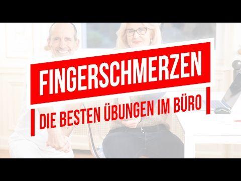 Fingerschmerzen / -arthrose   Die besten Übungen im Büro   Faszien-Rollmassage, Polyarthrose - YouTube