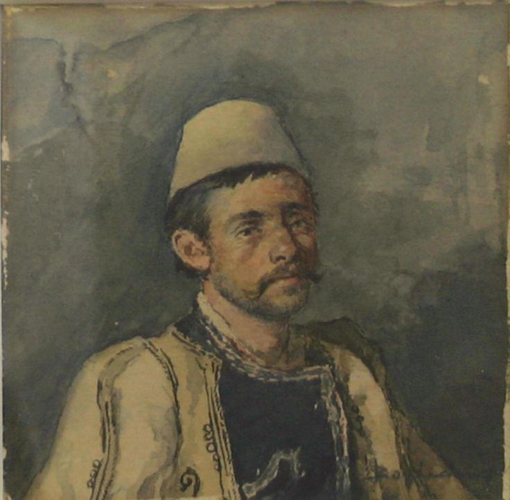 Προσωπογραφία Ηπειρώτου. Μποκατσιάμπης Βικέντιος. (1856-1933) Συλλογή Ιδρύματος Ε. Κουτλίδη. Εθνική Πινακοθήκη