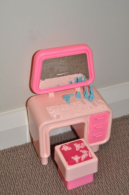 Barbie Dream vanity. I felt really old when I saw this in the Barbie exhibit at a children's museum.