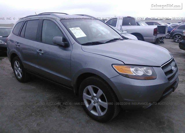 Salvage Gray #Hyundai Santa FE Online #Auction at San Antonio, TX. Bid Now!