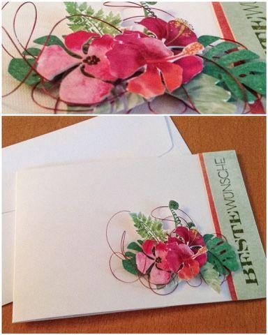 Card Creations by Ellis van Veenendaal: blumige Geburtstagskarte...