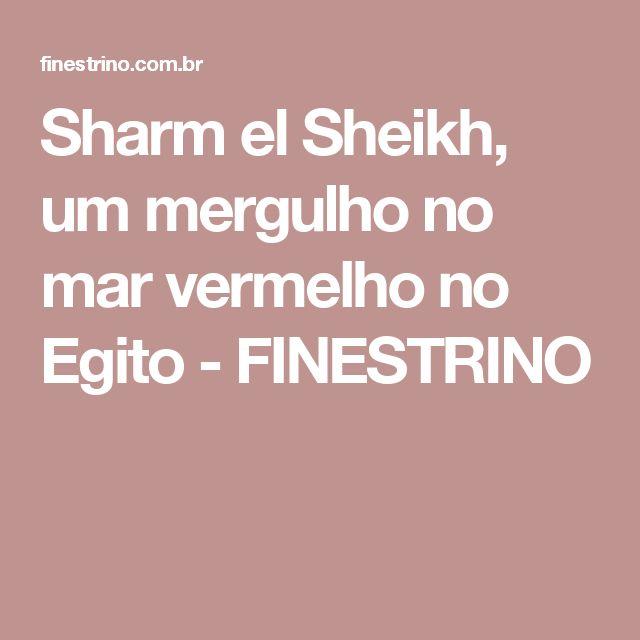 Sharm el Sheikh, um mergulho no mar vermelho no Egito - FINESTRINO