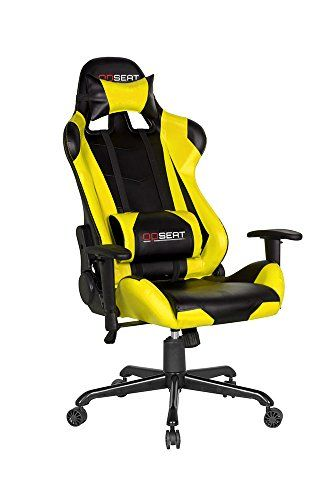 OPSEAT+Master+Series+PC+Gaming+Chair+Racing+Seat+Computer+Gaming+Desk+Chair+%28Yellow%29