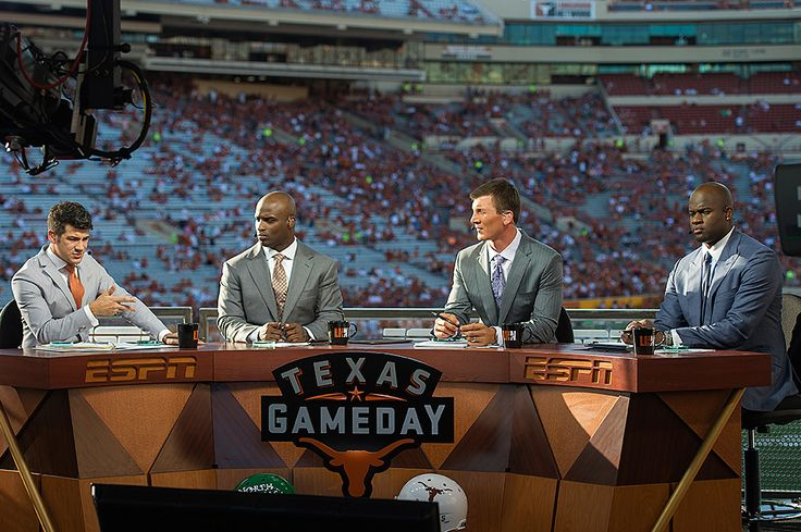 Longhorn Network Texas Gameday set with Lowell Galindo, Ricky Williams, David Thomas and Vince Young