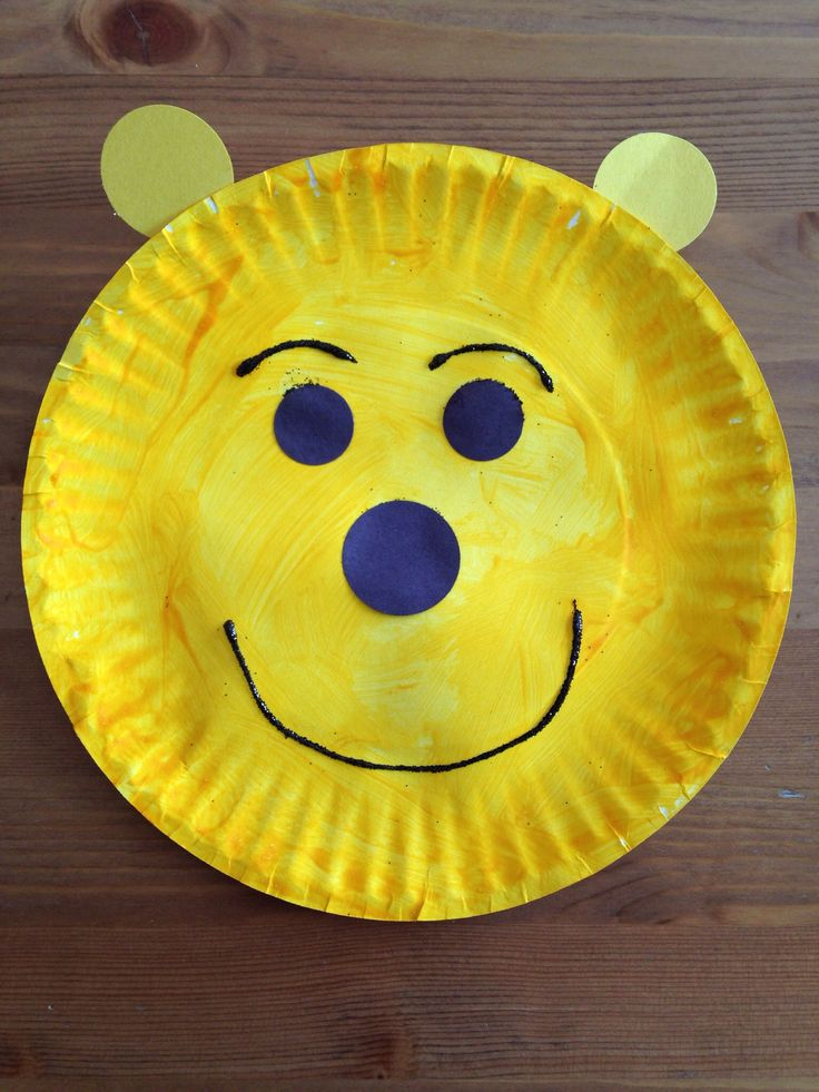Paper Plate Winnie the Pooh Craft - Bear Craft - Preschool Craft
