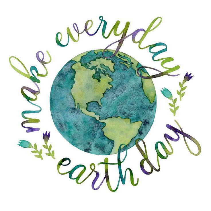 MoonandSkye - Happy Earth Day! Today is Day 4/100 of #the100dayproject #100watercolorsbymoonandskye