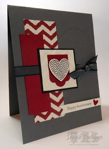 Hearts a Flutter Anniversary Card - better pictures on blog