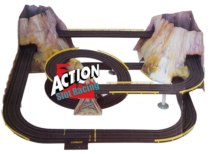Micro Scalextric ... now for sale! Browse here http://www.actionslotracing.co.uk/products/micro-scalextric-jungle-mountain-rally-track-set-rare?utm_campaign=social_autopilot&utm_source=pin&utm_medium=pin