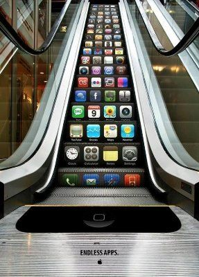 Creative iPhone Escalator Ad Concept by Yongwook Seong