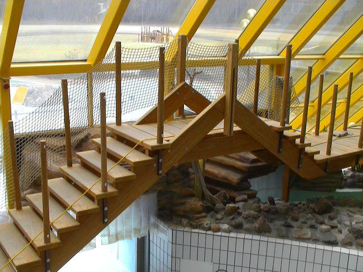 Trap/brug subtropisch zwembad