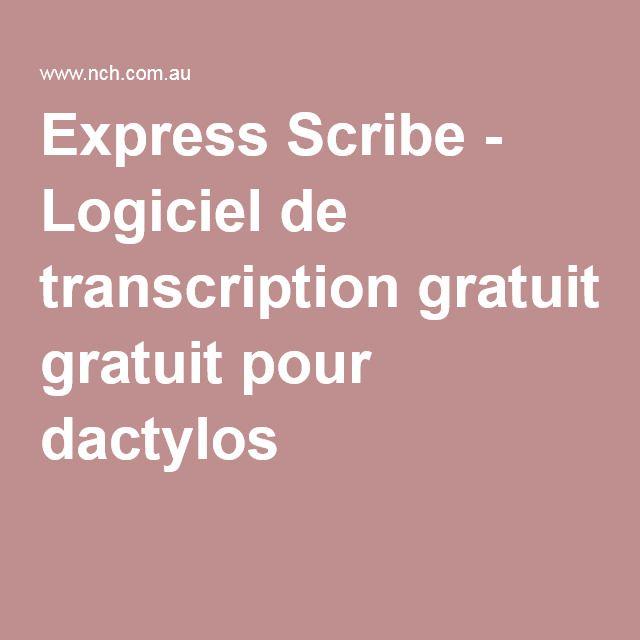 Express Scribe - Logiciel de transcription gratuit pour dactylos