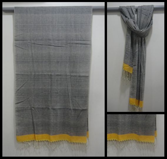 100% cotton hand woven scarf