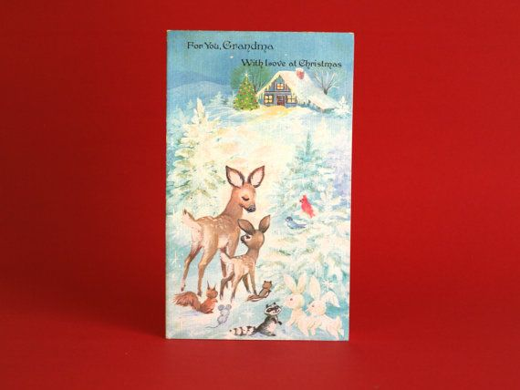 Vintage Christmas For You Grandma Card  For My Gran by FunkyKoala