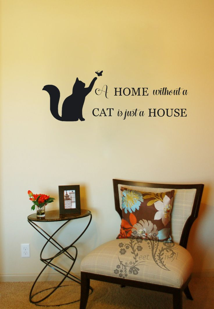 Cat Wall Decor cat wall decals. cute cats wall decals animal art decoration for