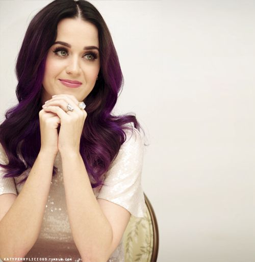 "katyperrylicious:    ""Katy Perry: Part Of Me"" Press ConferenceKatyperry, Purple Hair, Hair Colors, Dark Hair, Black Hair, Katy Perry, New Girls, Winter Hair, Red Highlights"