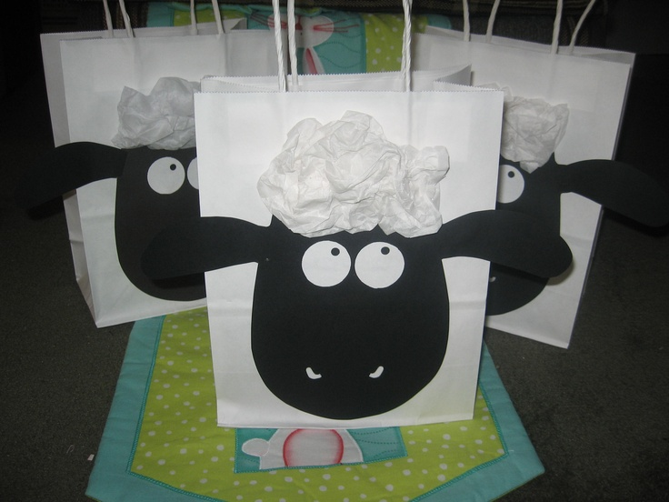 Shaun the sheep bag to hold all Easter treats