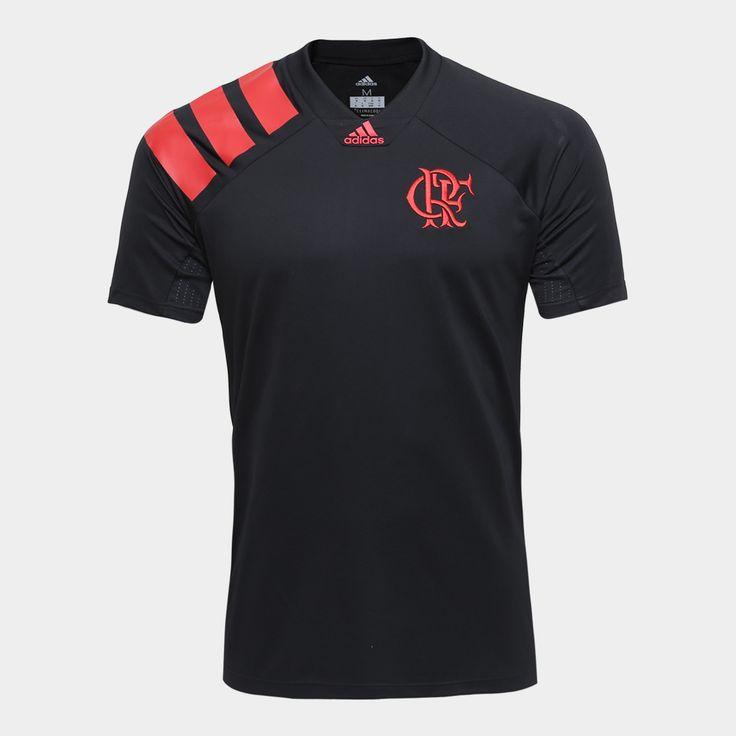 Camiseta Flamengo Adidas CRF Masculina Preto | Netshoes