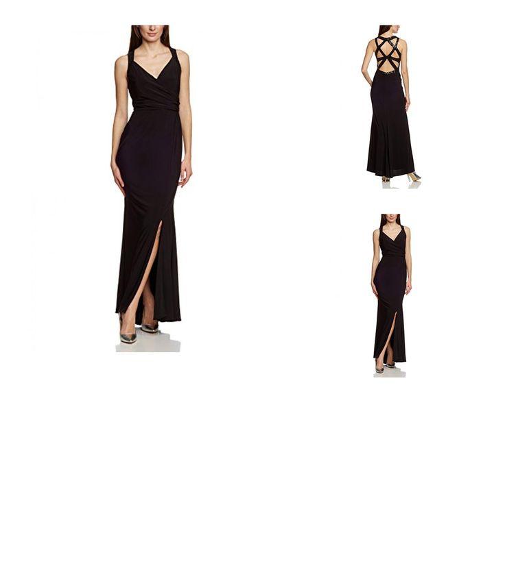4053041127355 | #APART #Fashion #Damen #Dekolletiertes #Kleid #56051, #Maxi, #Einfarbig, #Gr. #40, #Schwarz