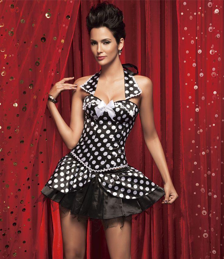 Wholesale Polka Dot Collar Corset & Skirt HP5029 OEM Company  Corsetscity