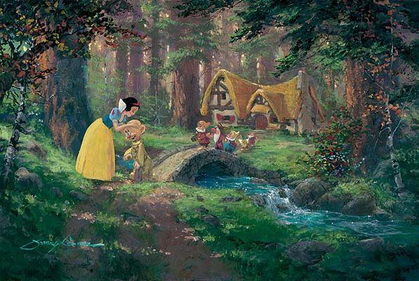 thomas kinkaide dishey | Thomas Kinkade: Sweet Goodbye by James Coleman: Disney Collection